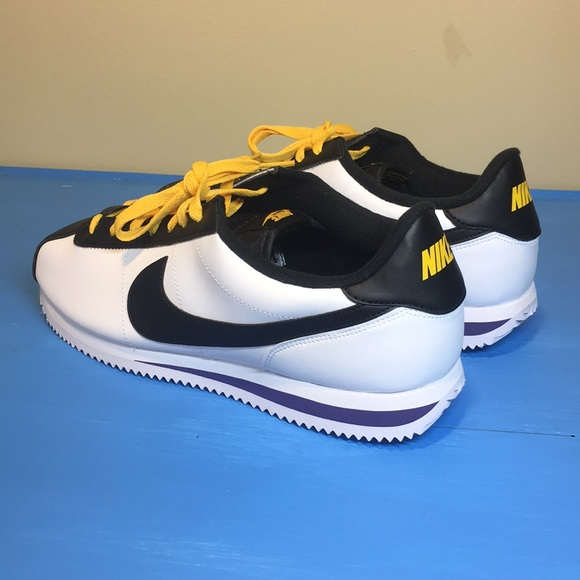 detailed look 2ad0a a8321 Nike Cortez Basic Leather white black yellow NEW NWT